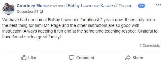 Prekids4, Bobby Lawrence Karate of Draper